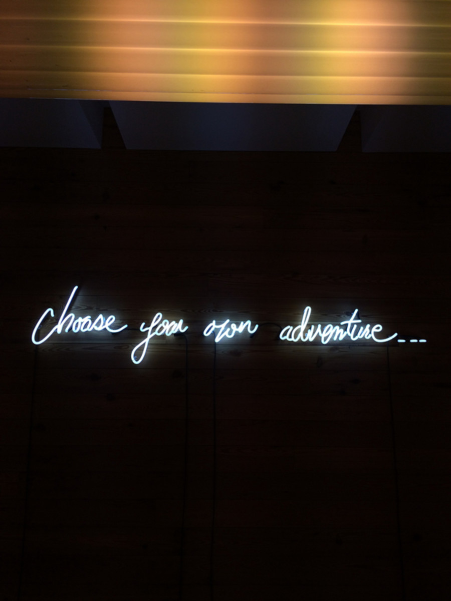 {I love an inspirational neon sign}