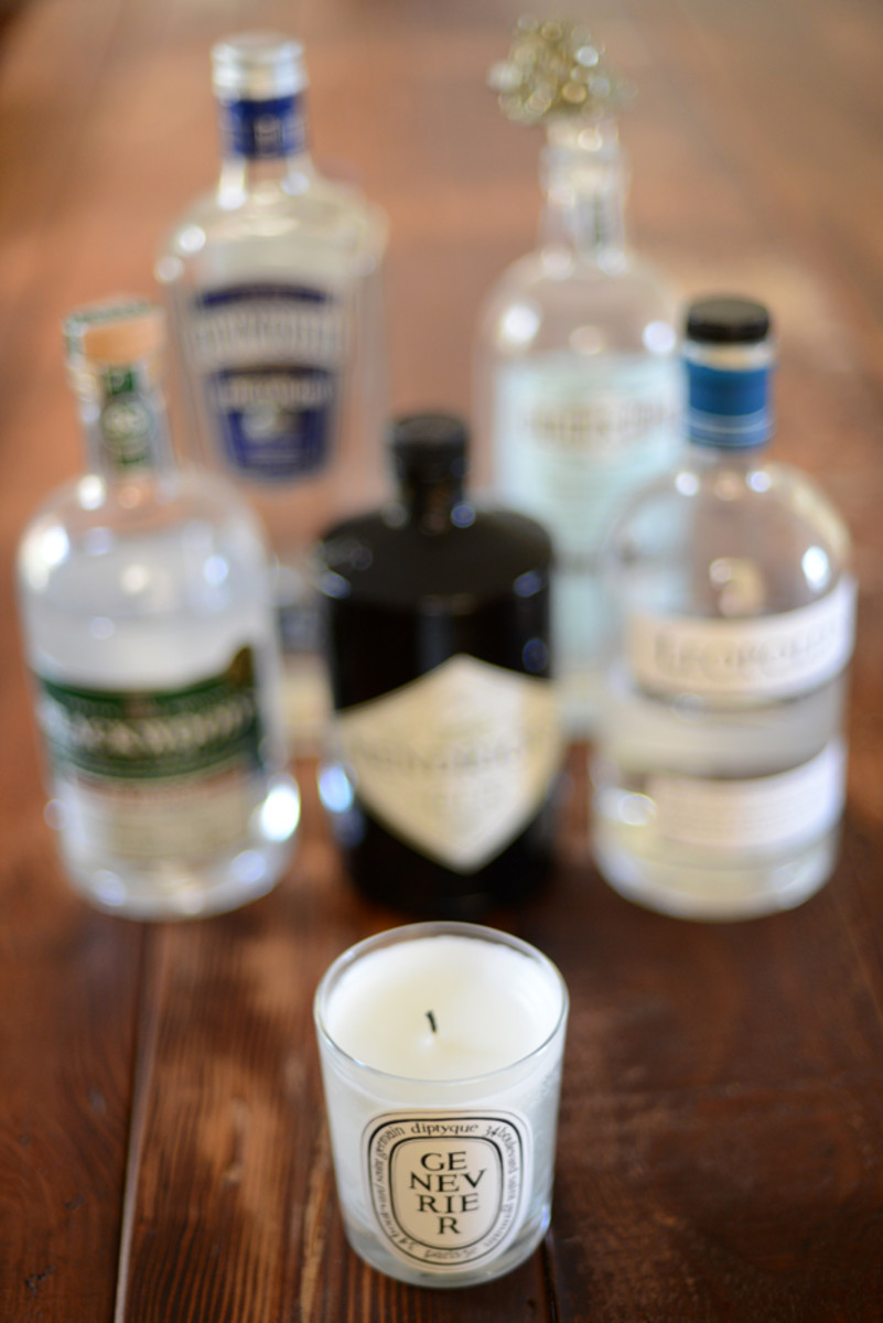 {Juniper for fall: candles + gin}