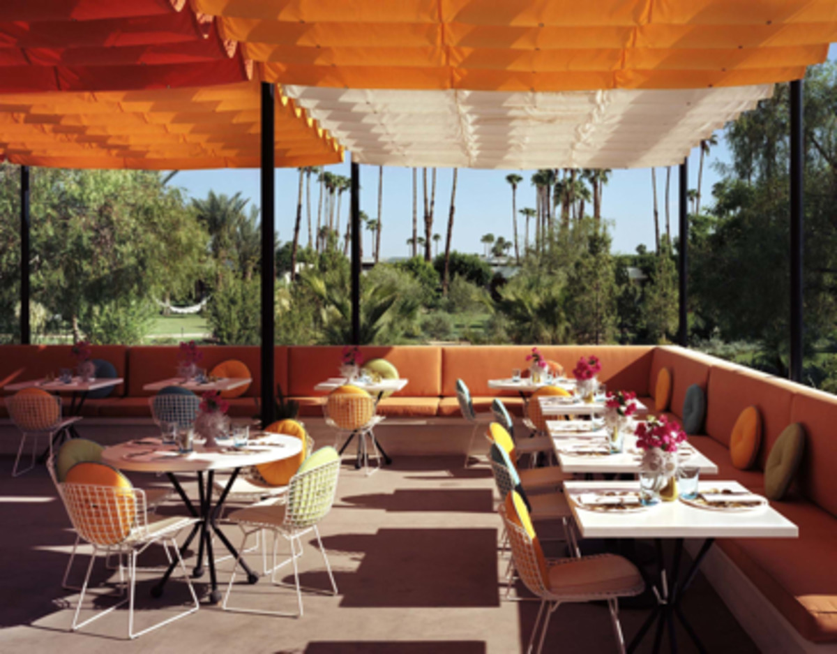 {The citrus-colored scene at Norma's is almost as great as the food.}