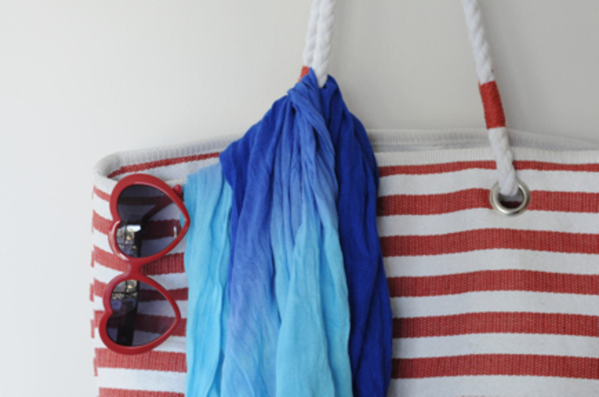 {My Seafolly tote and sarong with heart-shaped glasses}