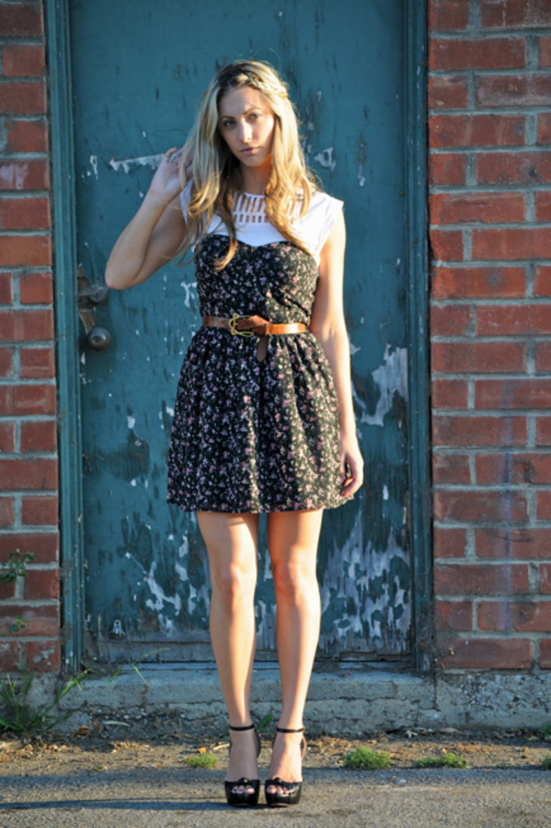 Loeffler Randall Dress (last seenhere), Forever 21 Dress, Vintage Belt, Prada Shoes