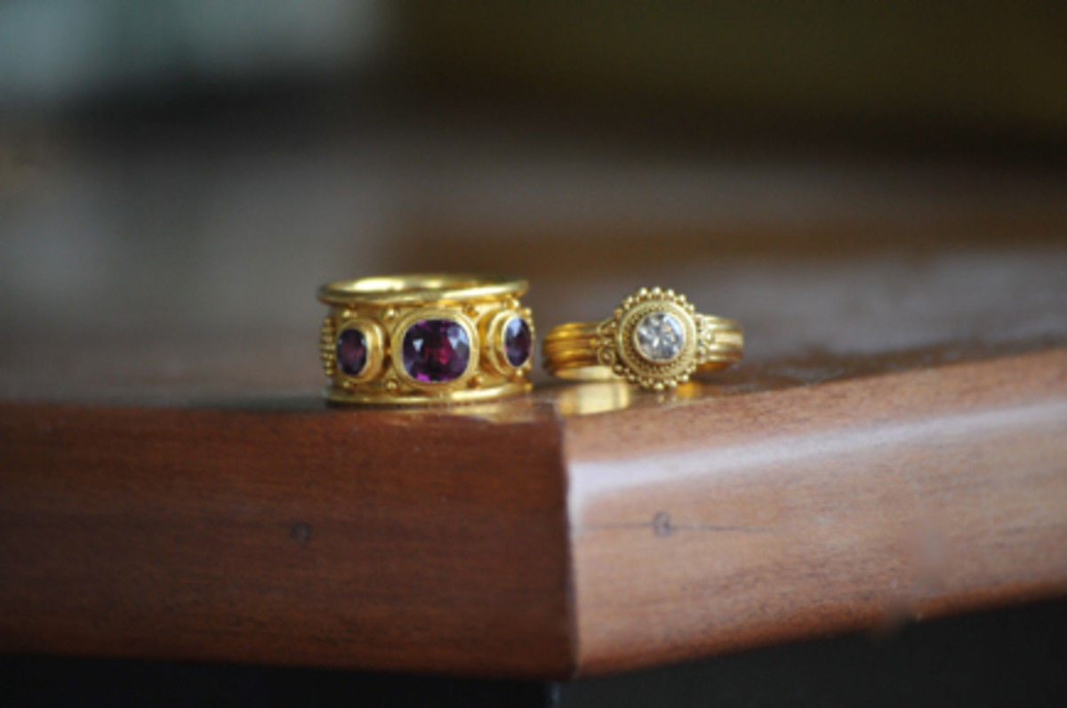 {My two favorite rings that she had reworked.}