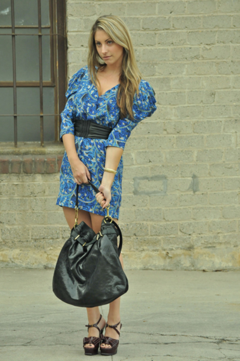 Elizabeth and James Dress (c/o), YSL Heels, Coach Bag (c/o), Vintage Bracelets, Forever 21 Ring