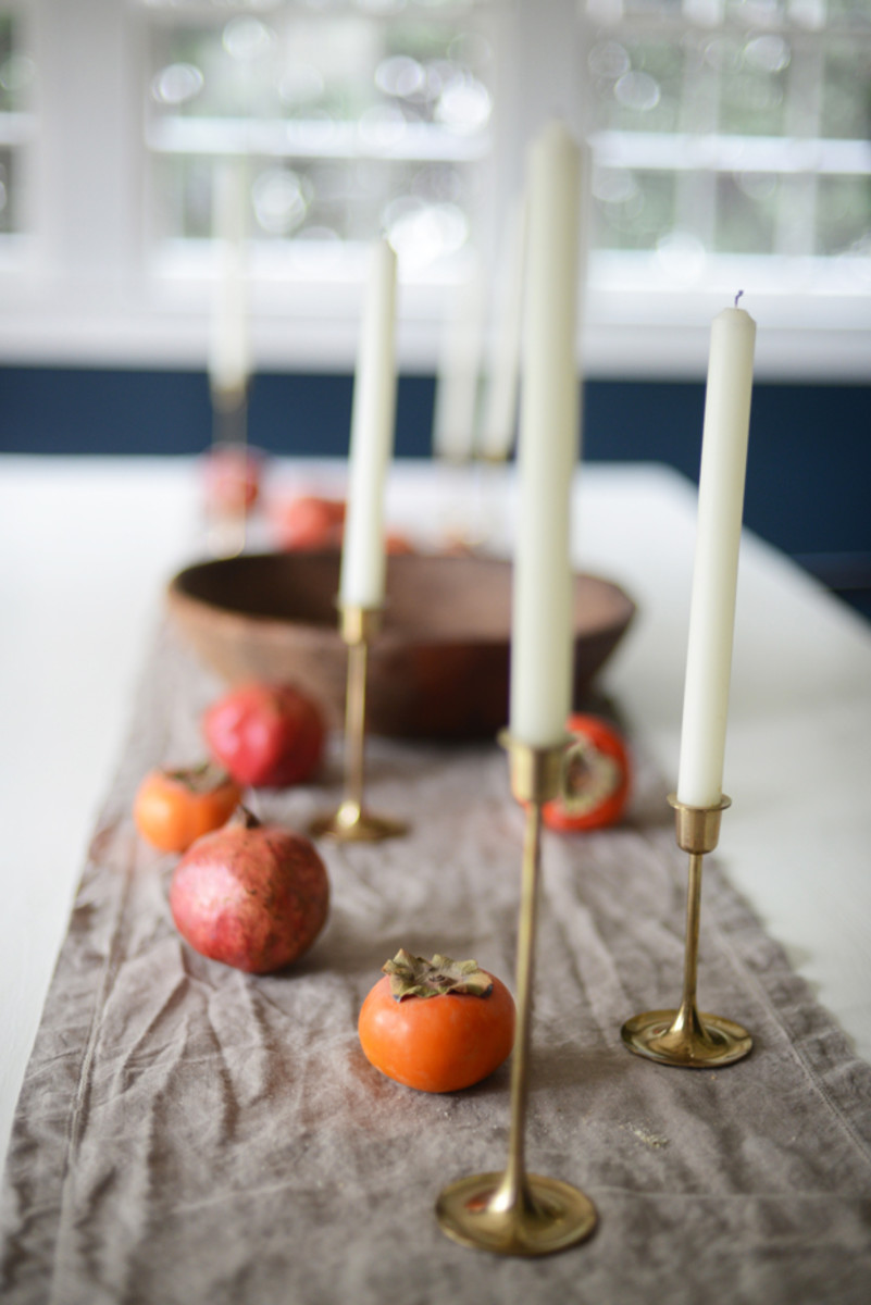 {The benefit of having a simple Thanksgiving tablescape: being able to keep it out}