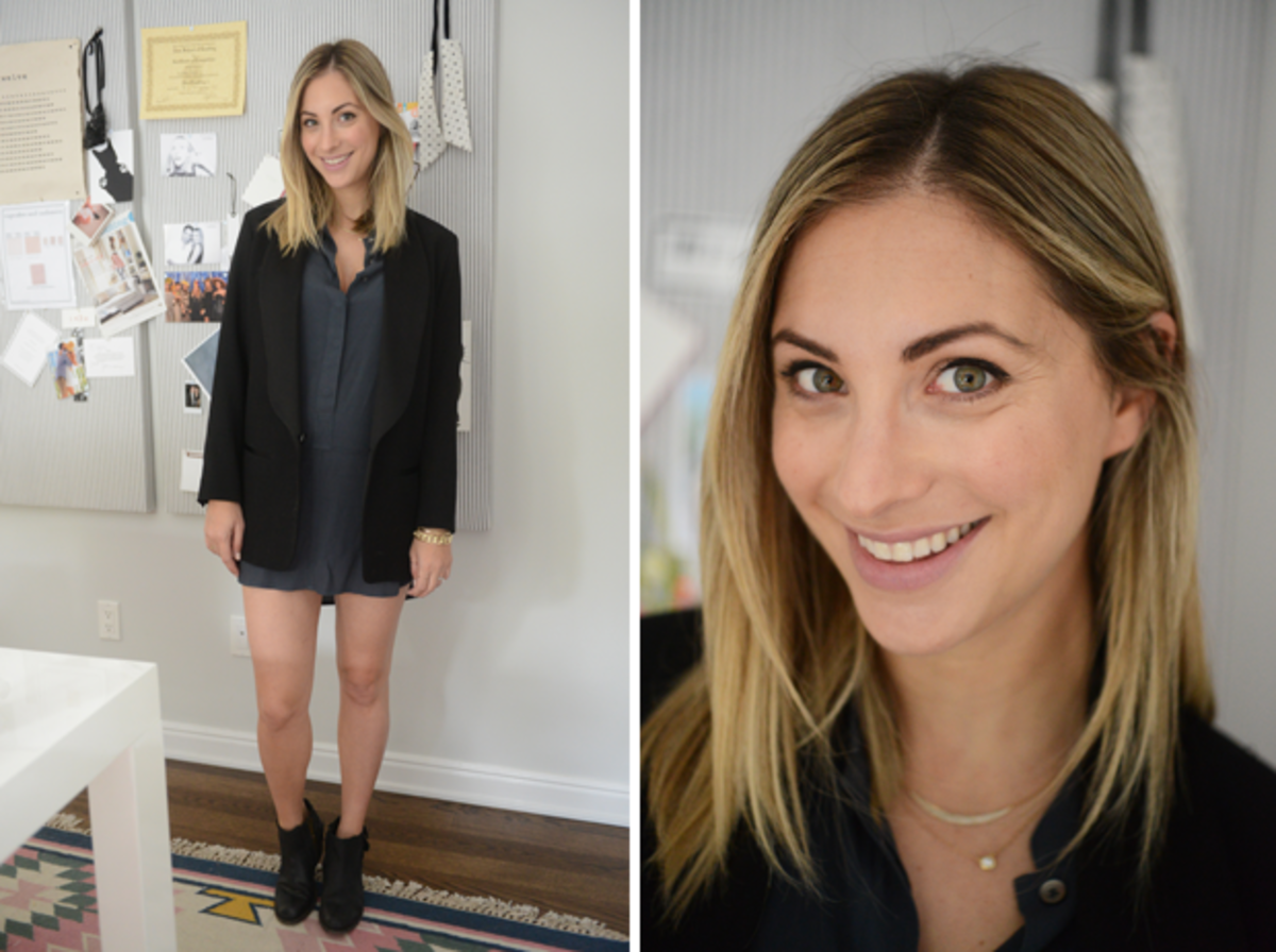 {Tuesday: Madewell Dress, Isabel Marant x H&M Blazer H by Hudson Boots}