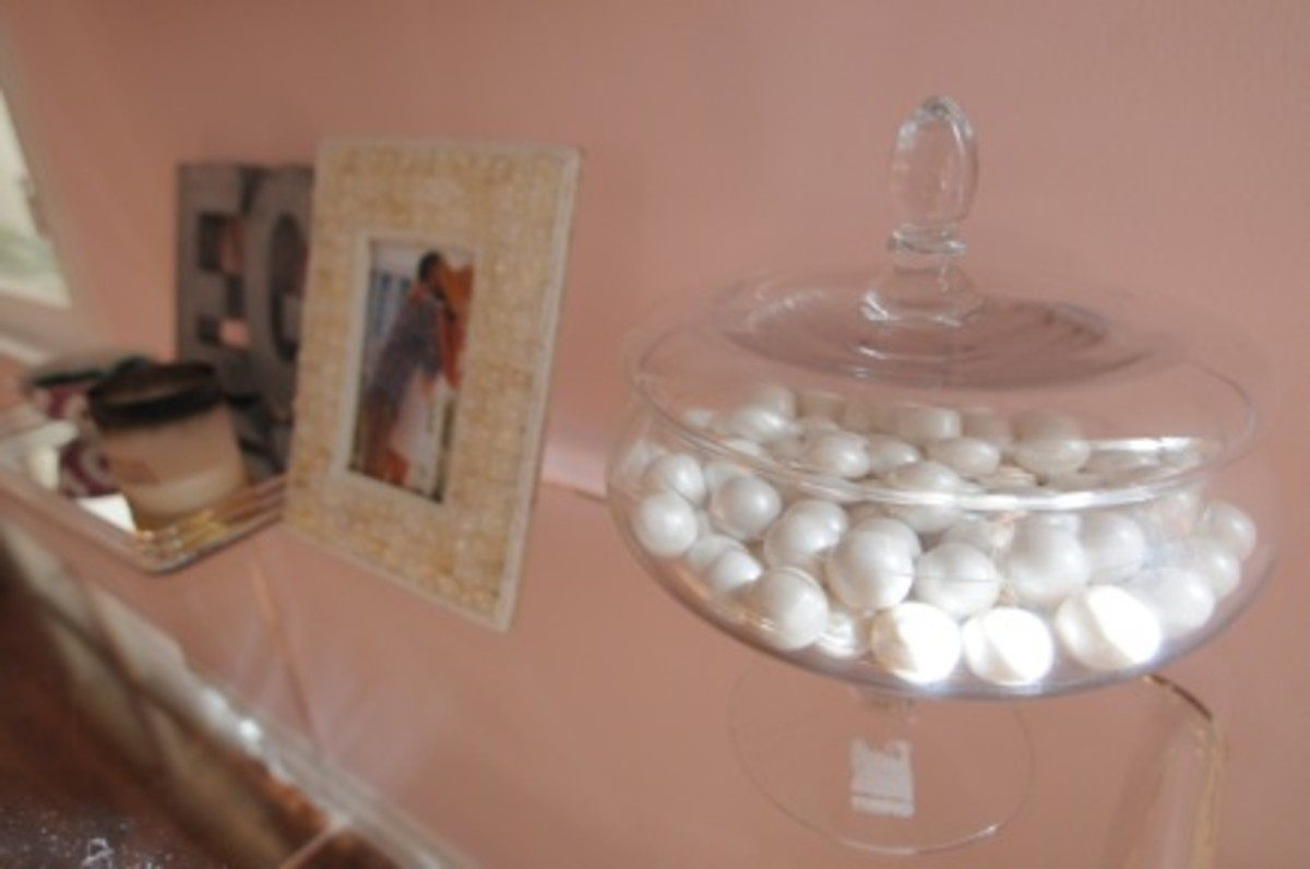 {White gum balls keep the office from feeling too serious}