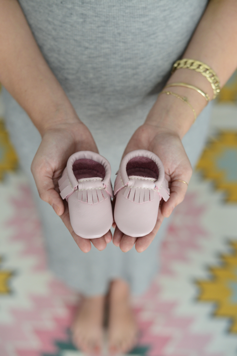 {The sweetest baby moccasins from Freshly Picked}