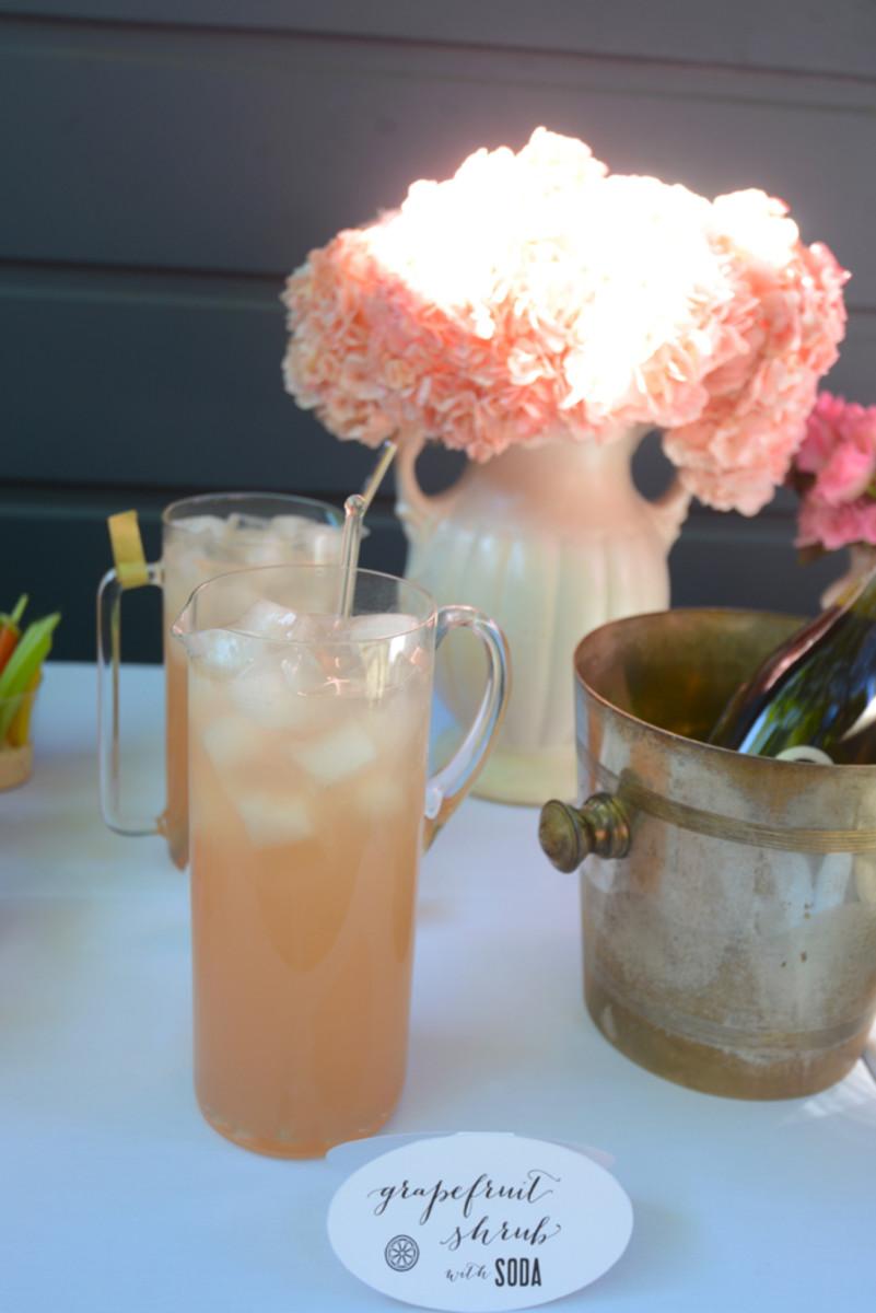 {Grapefruit shrub cocktails and mocktails}