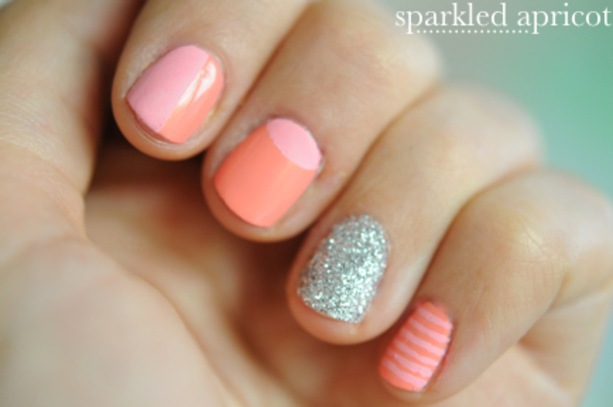 Sparkled Apricot Nails Cupcakes Amp Cashmere