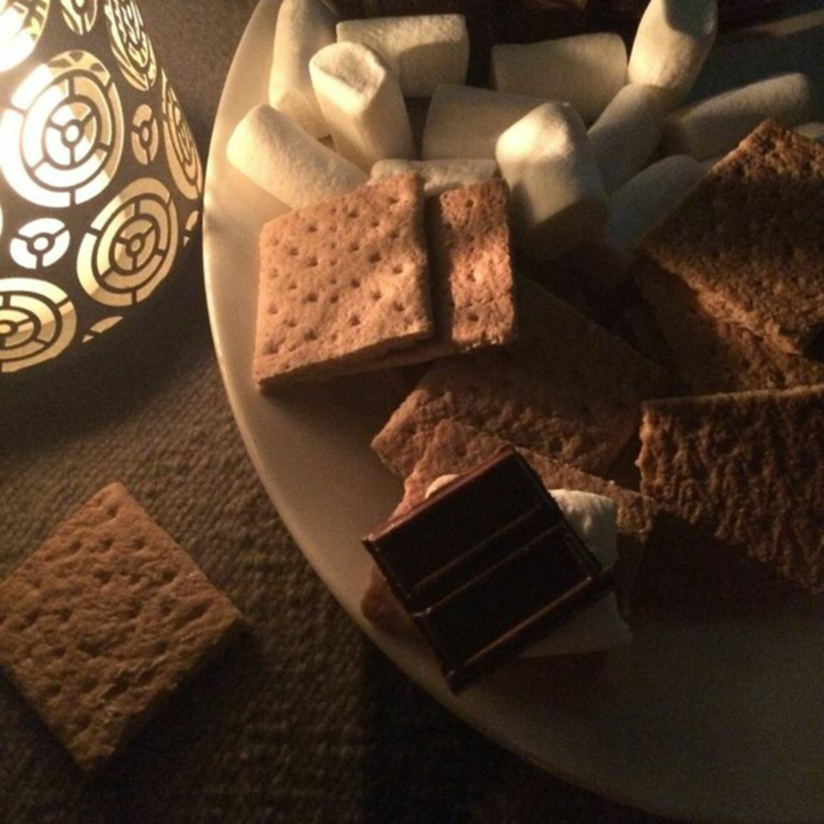 {Backyard s'mores at a friend's house}