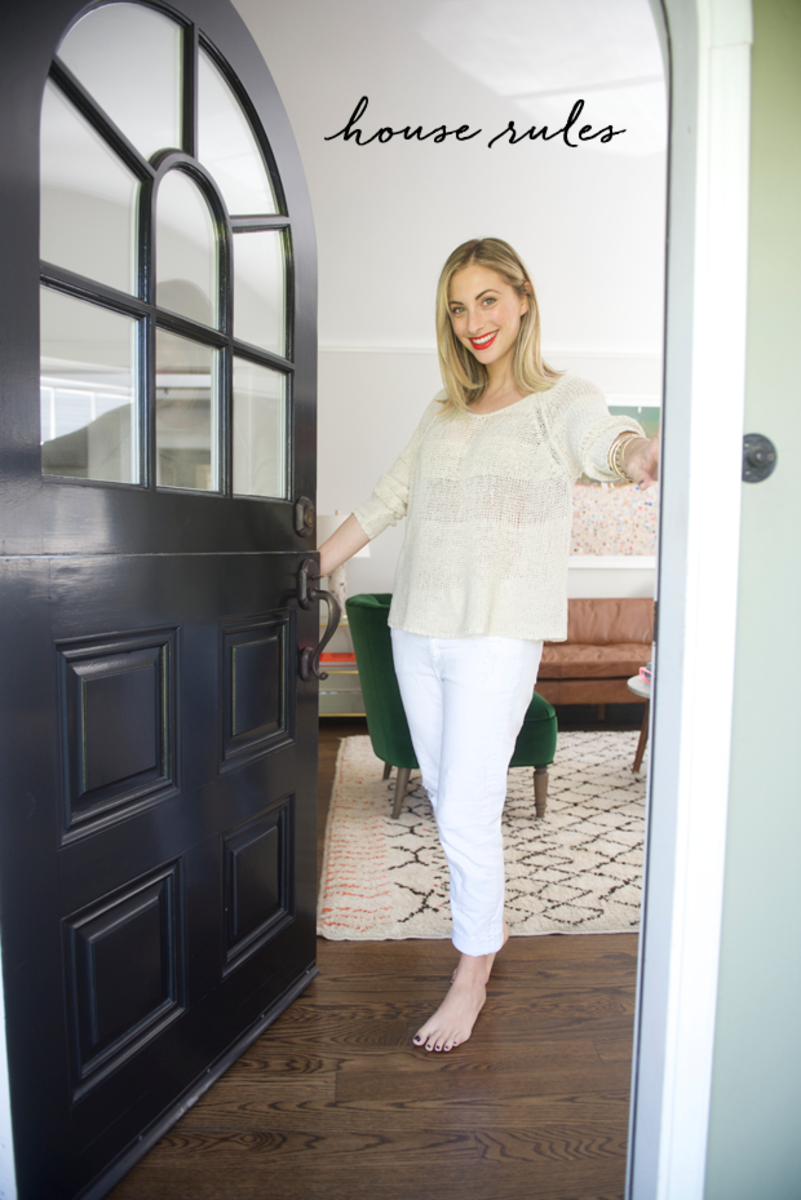 {Wearing McGuire Jeans, Free People Sweater (similar), Topshop Rio Rio Lipstick}