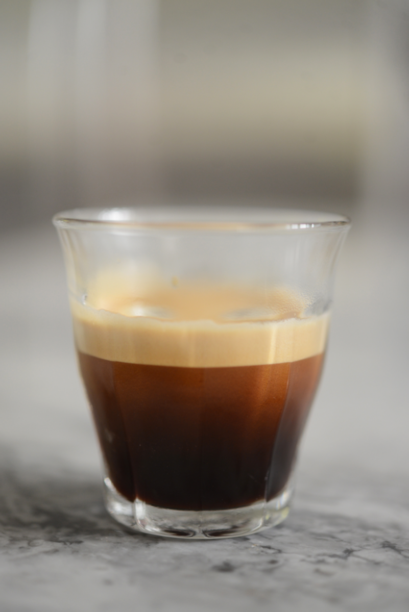 {Afternoon ombré (decaf) espresso shot}