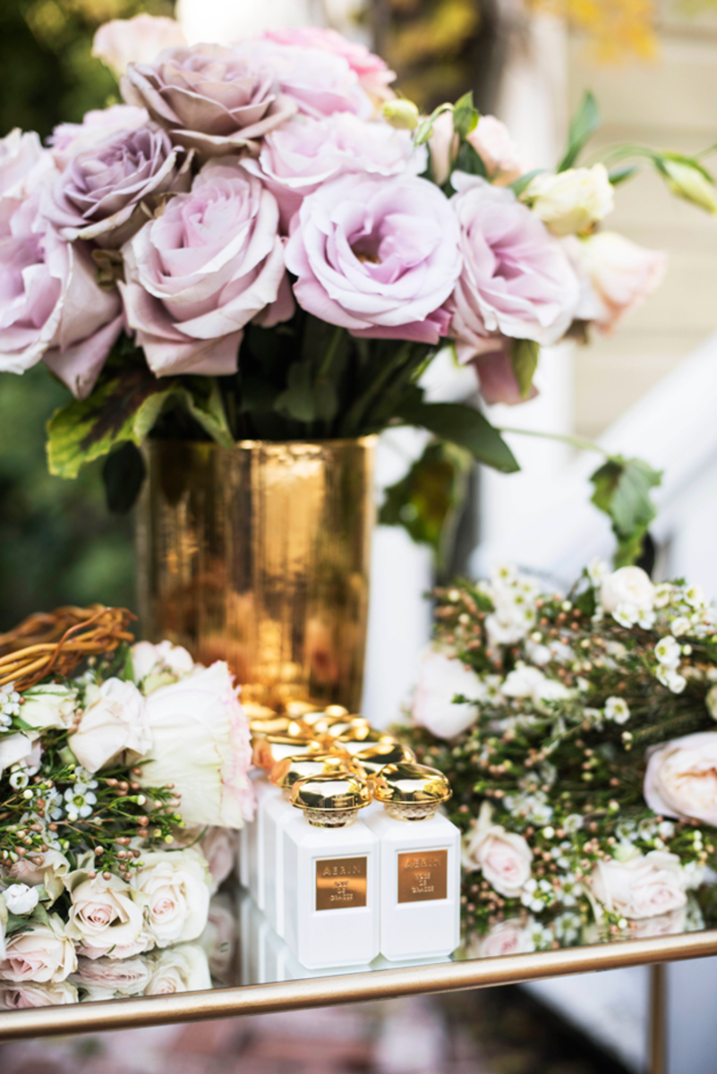{AERIN's 'Rose de Grasse' perfume + flower crowns}