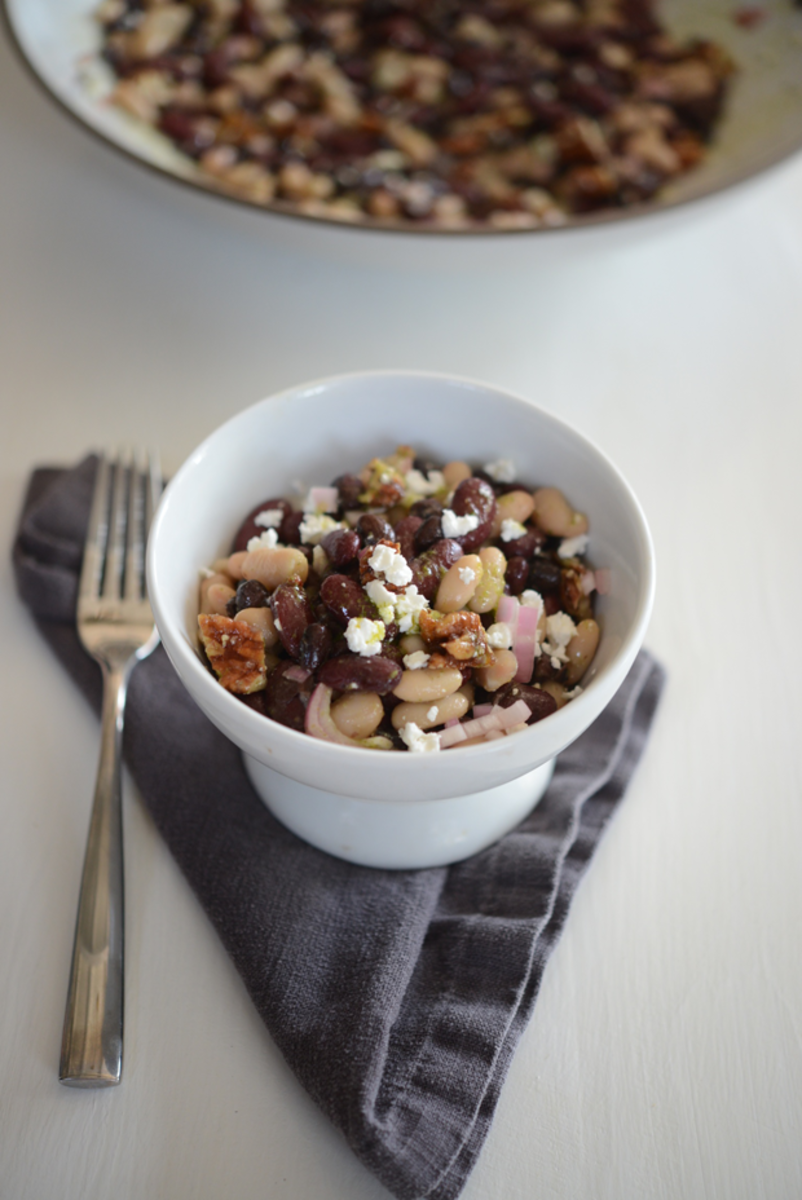 {Homemade bean salad}