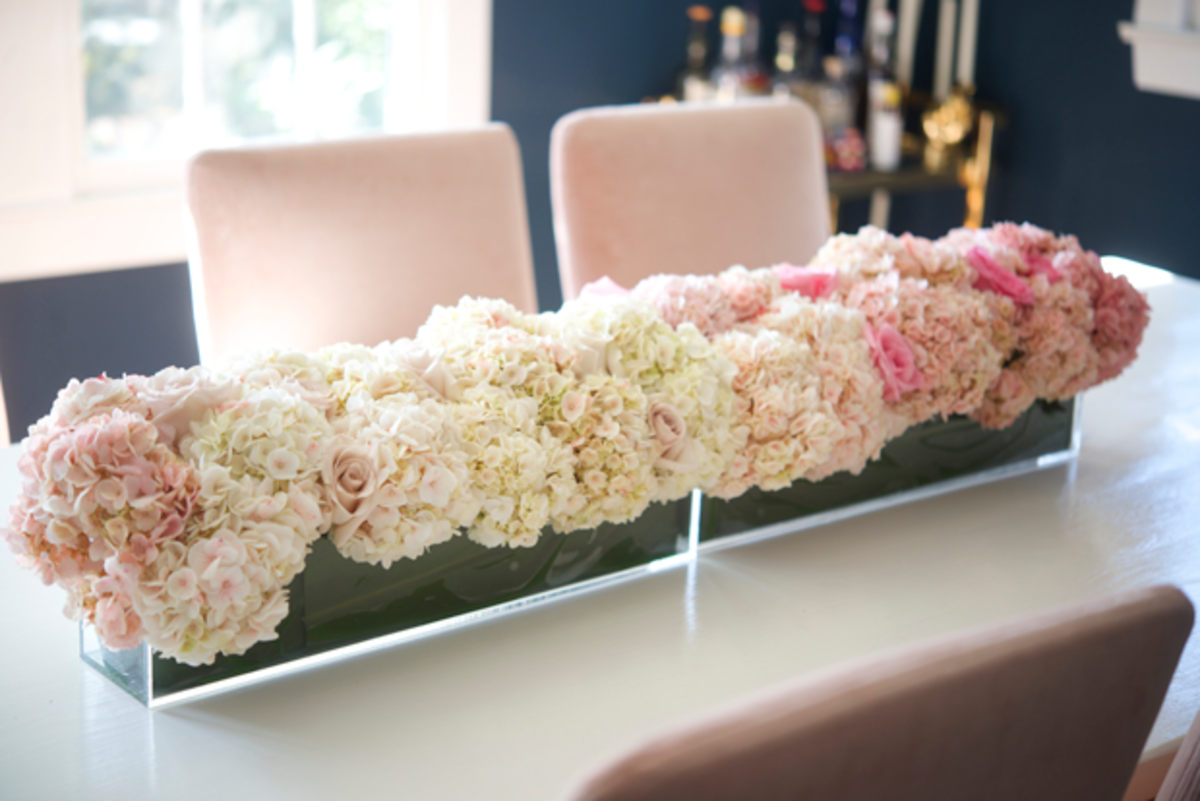 {Detail shot of the ombré centerpiece featured in my new book}