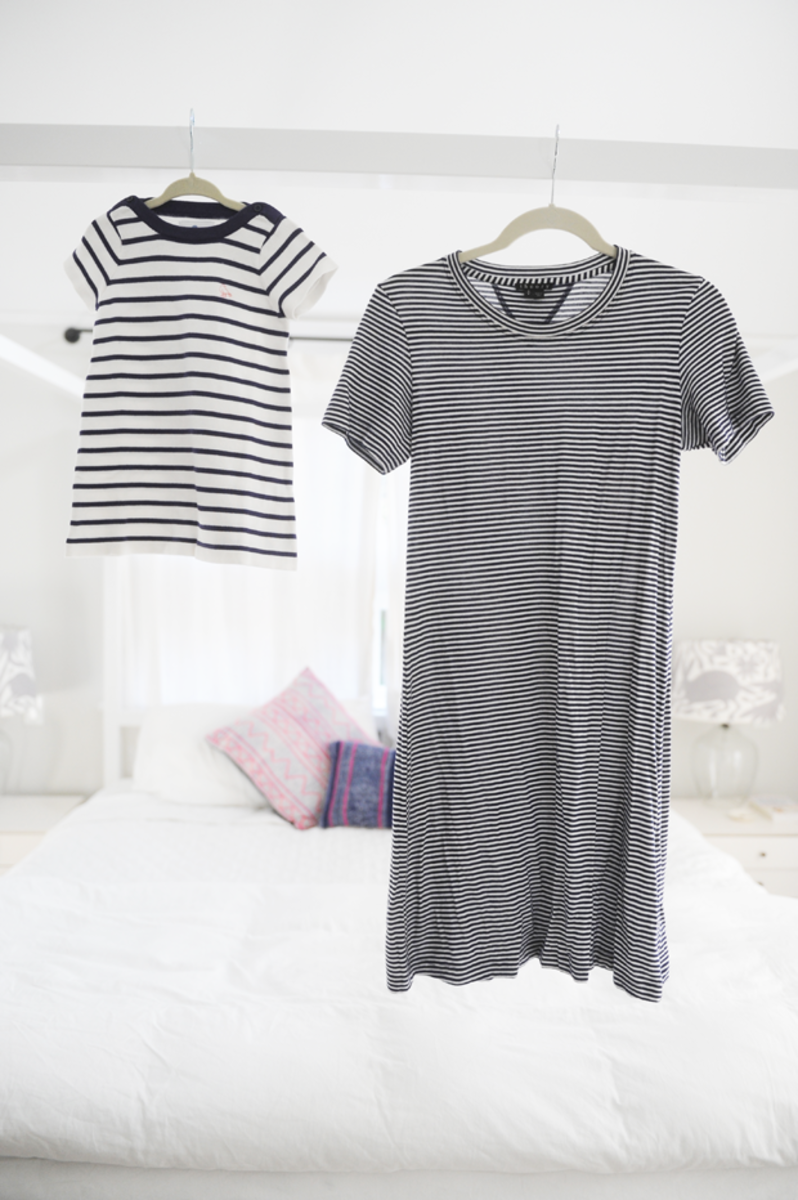 {We're both feeling stripes this season (similar here)}