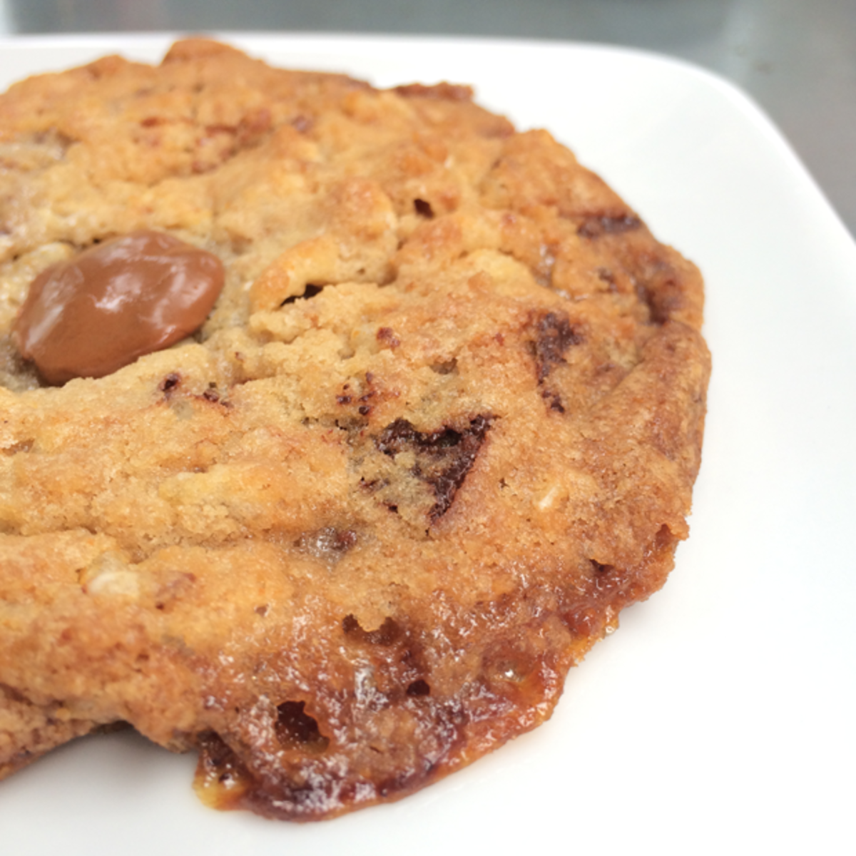 {Rye chocolate chip cookie from Sycamore Kitchen}
