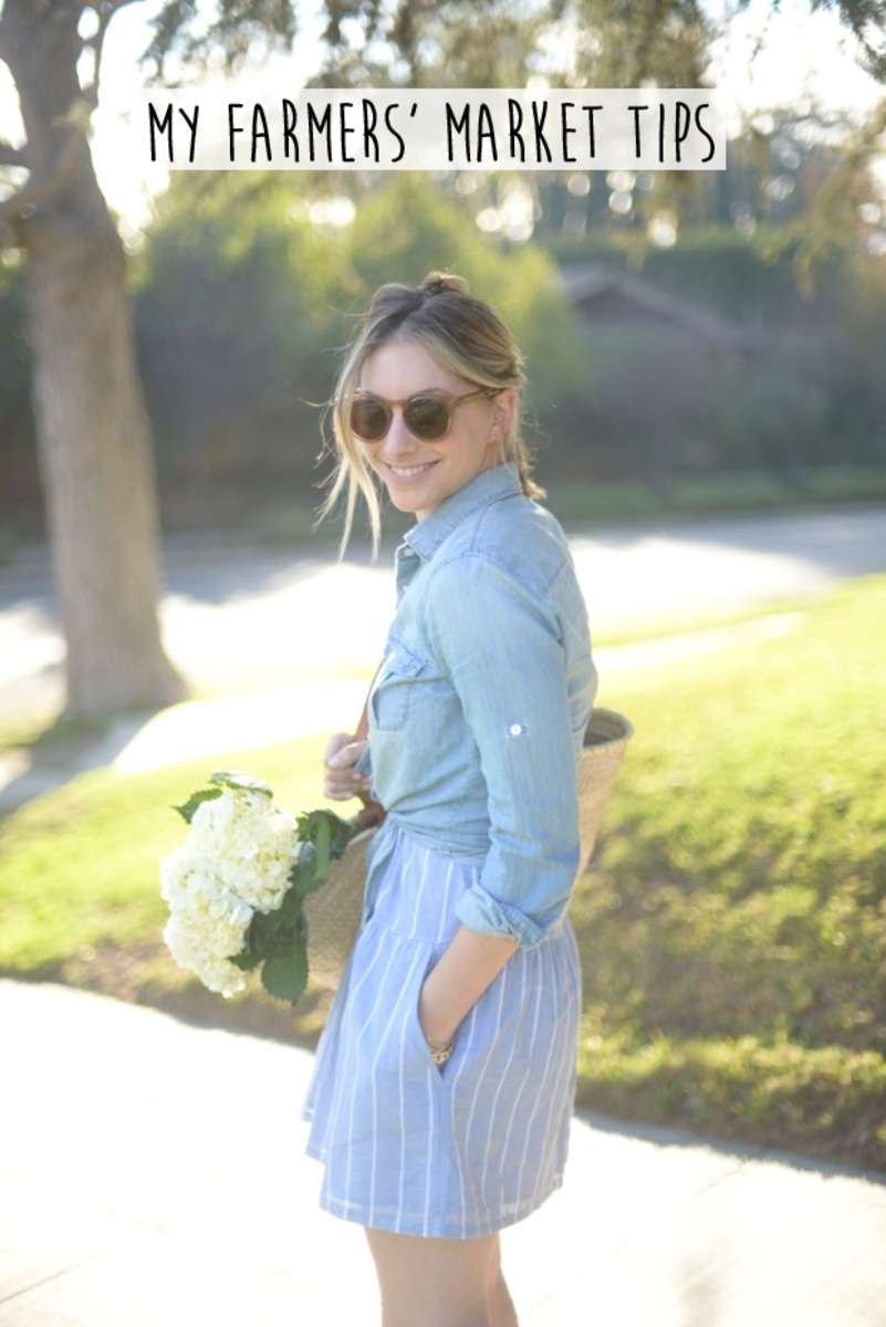 {Wearing J.Crew Chambray Top}
