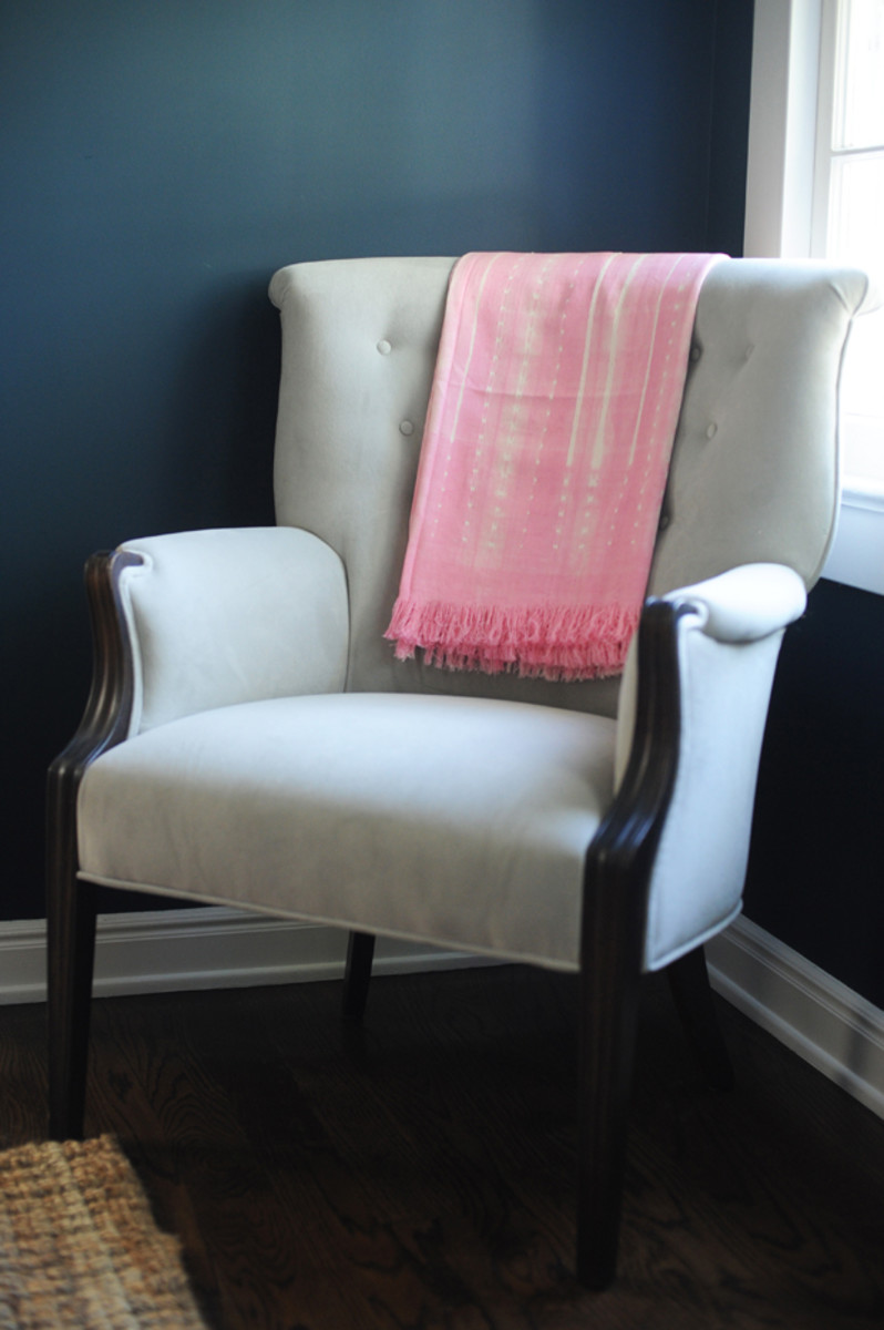 {Vintage Arm Chairs / Throw from Amber Interiors}