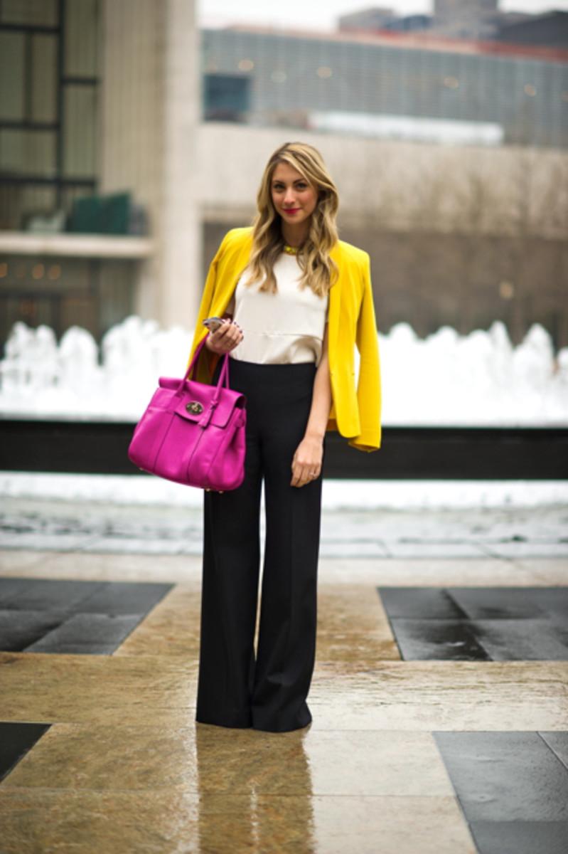 Rag + Bone Blazer, Zara Top, Ralph Lauren Trousers (borrowed), Mulberry Bag, Vintage Necklace, Jeffrey Campbell Platforms, Kate Spade iPhone Case