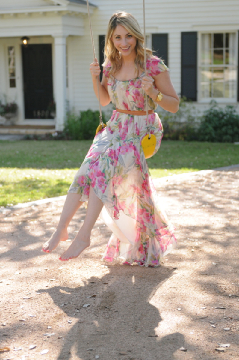 {Late afternoon swinging - in an Elizabeth and James dress c/o}