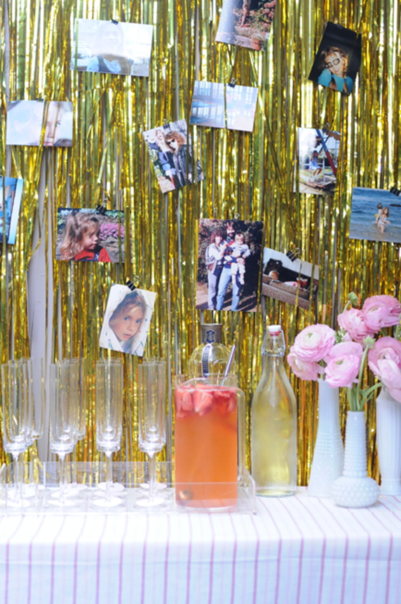 {Beautiful welcome display + Cherub's Cup cocktail}