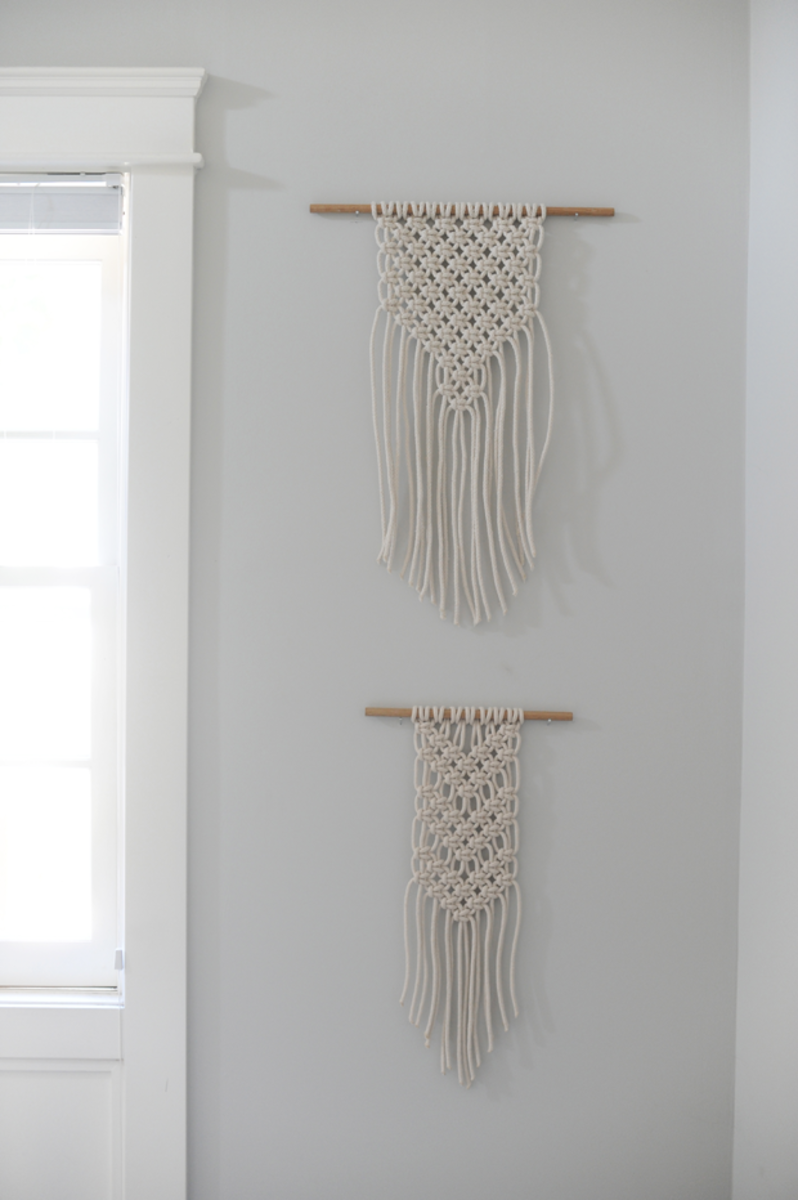 {Macrame wall hangings from Minnie Jo}