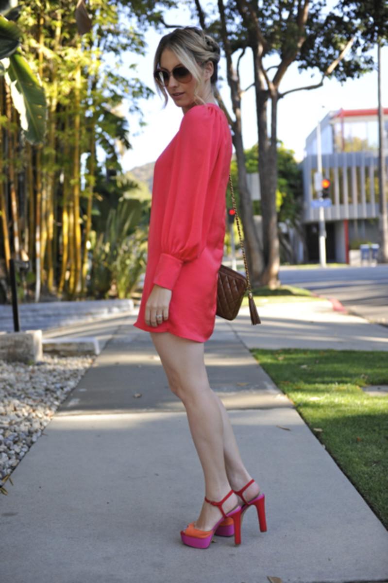 Vintage Sunglasses,Rory Beca Dressc/o, Vintage Chanel Bag, Zara Heels