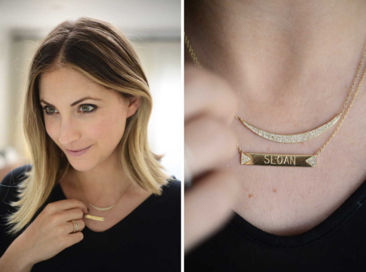 {My favorite gift: my Sloan necklace from EF Collection}