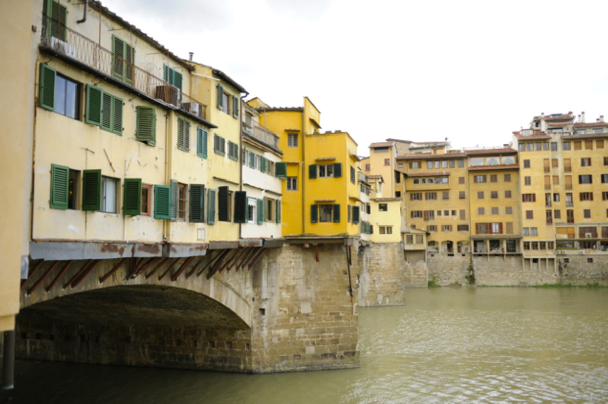{The view of the Ponte Vecchio from our hotel}