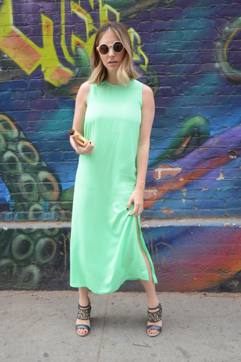 {J.Crew Dress (on sale), Forever 21 Sunglasses, Tiffany & Co. Clutch, Dries Van Noten Shoes}