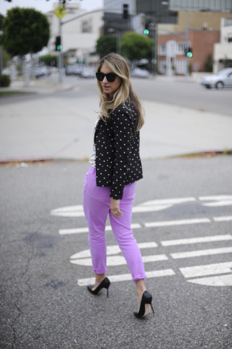Celine Sunglasses, J.Crew Blouse, Madewell Blazer, J.Crew Pants, Manolo Blahnik Pumps, Kelly Wearstler Clutch