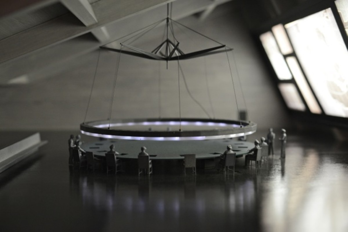 {A scale model of the war room from Dr. Strangelove}