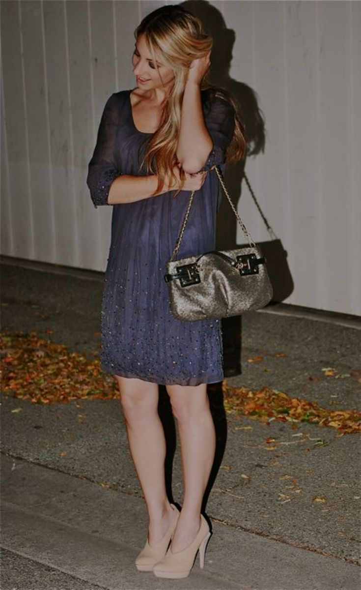 Brunya Dress, Alexander Wang Pumps, Coach Bag