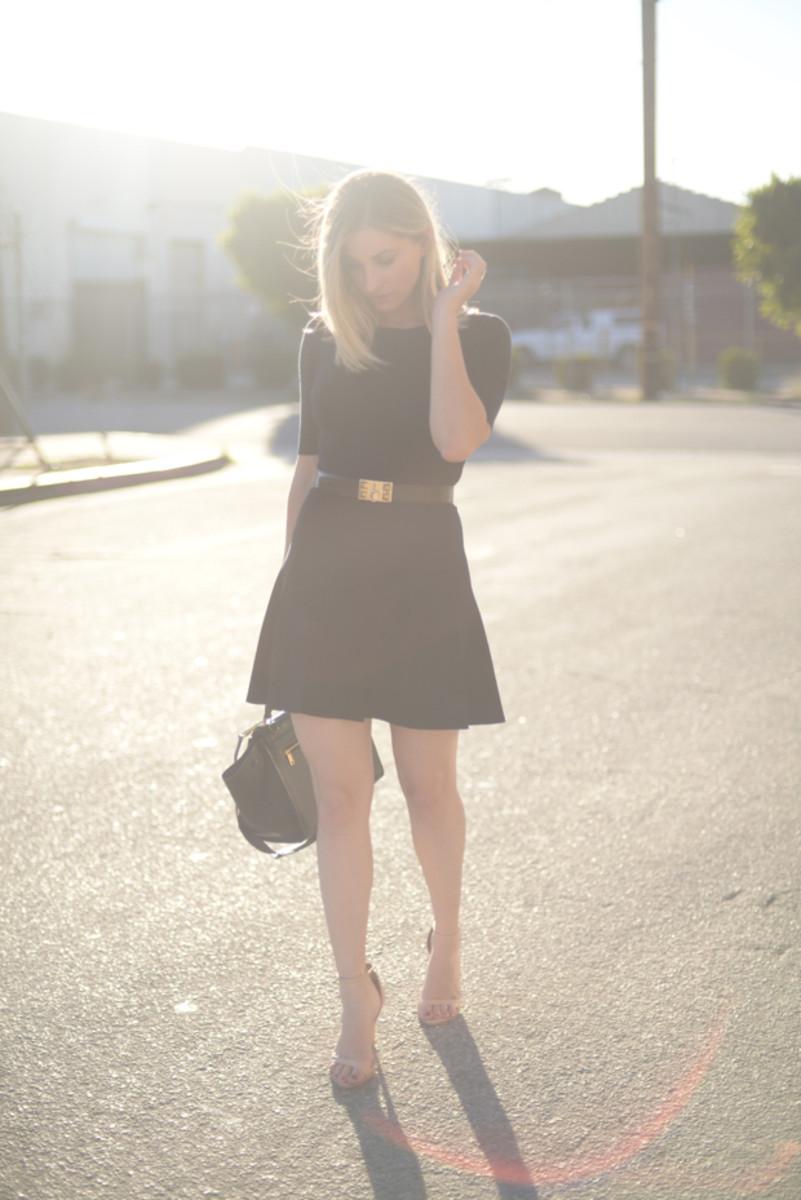 Club Monaco Dress (similar here), Hermes Belt, Celine Bag, Zara Heels