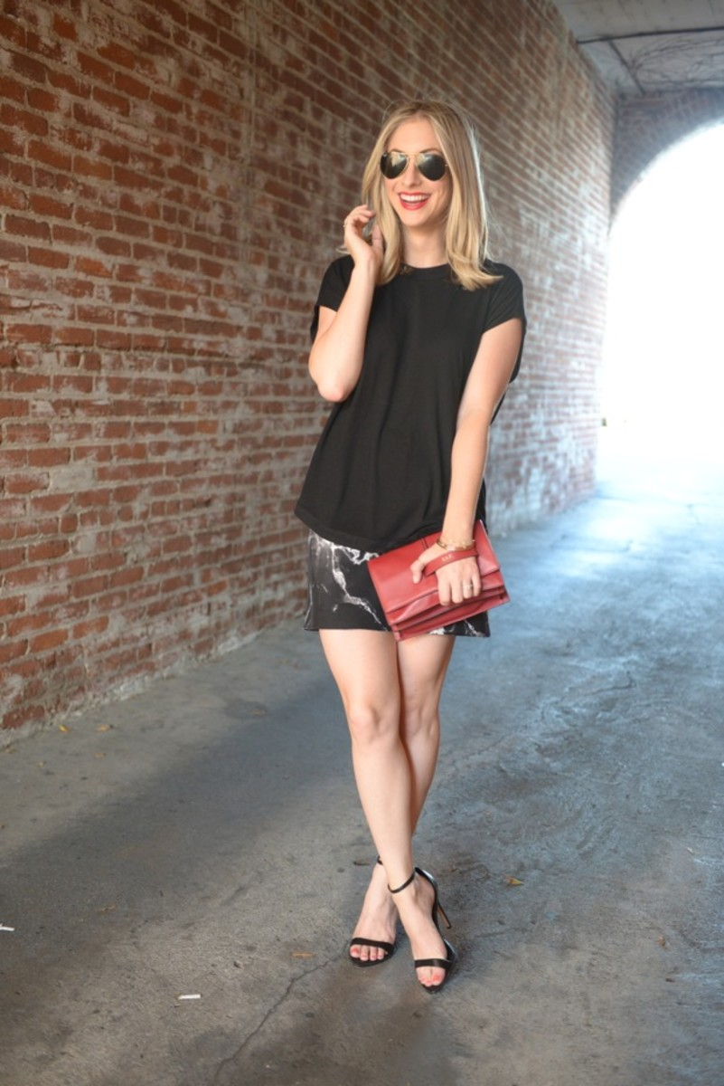 Robert Rodriguez Top and Skirt c/o, Valentino Bag, Zara Heels