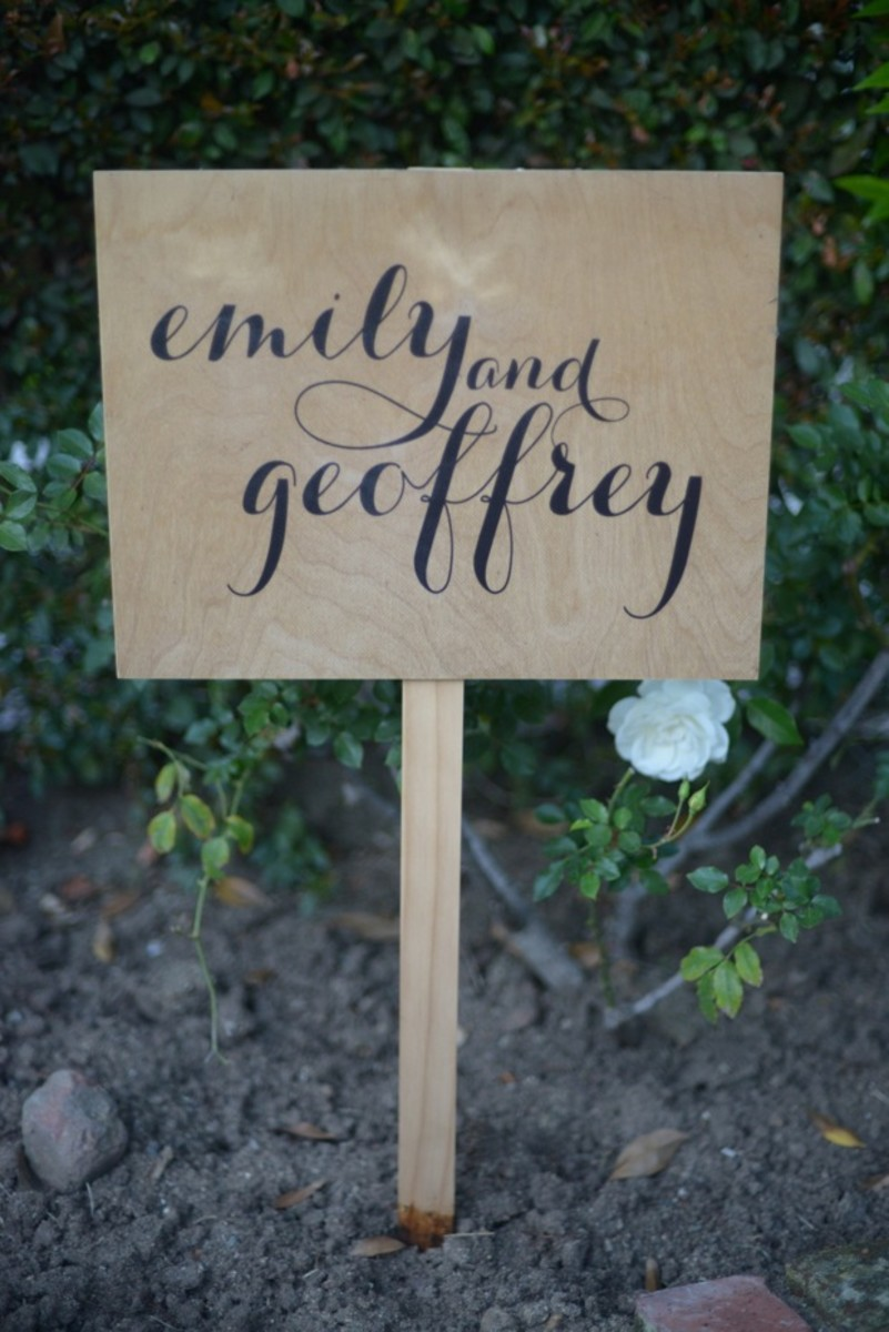 {A sign from our wedding that my parents brought down last weekend}