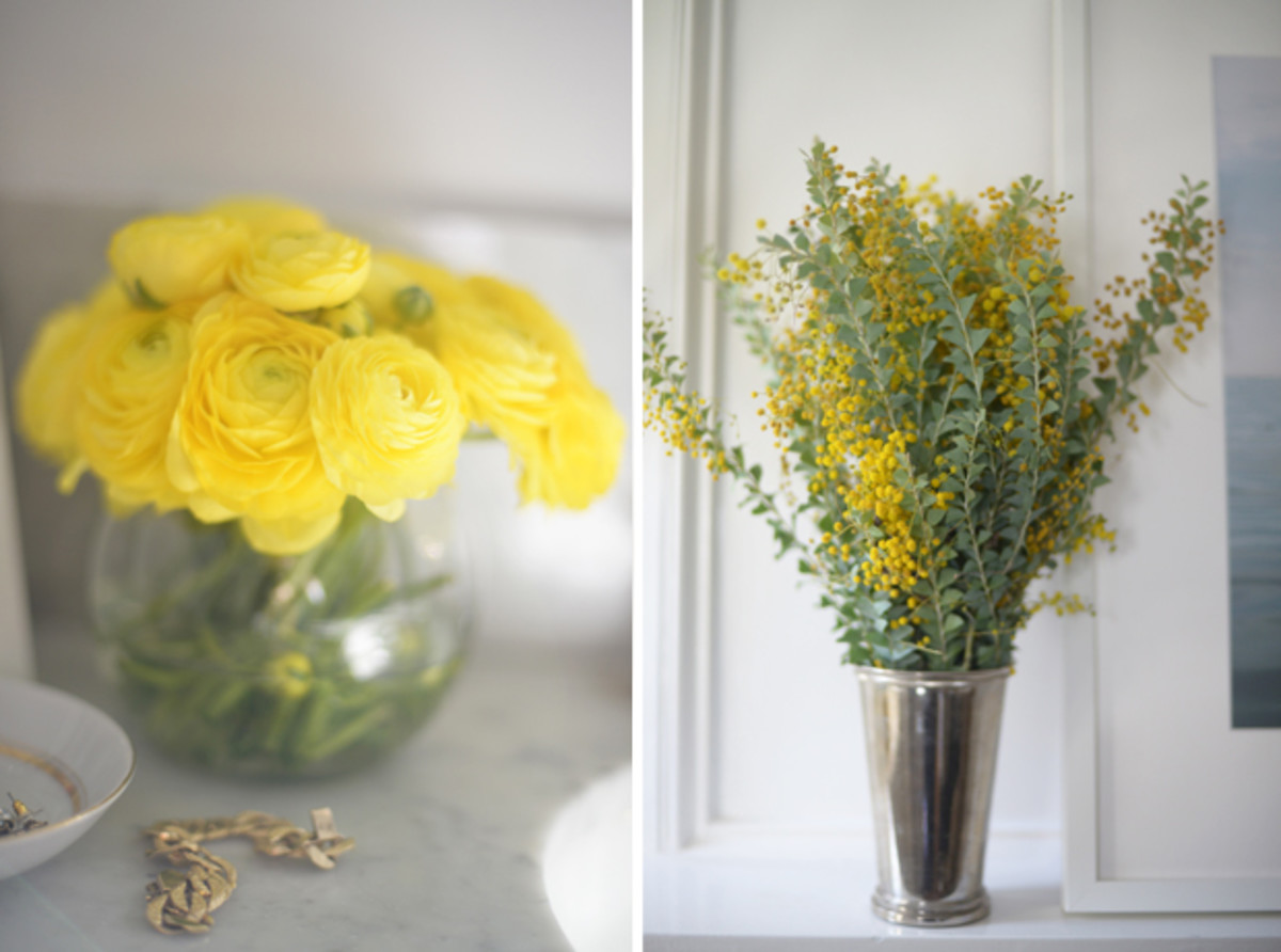 {Filling our house with cheerful yellow blooms}