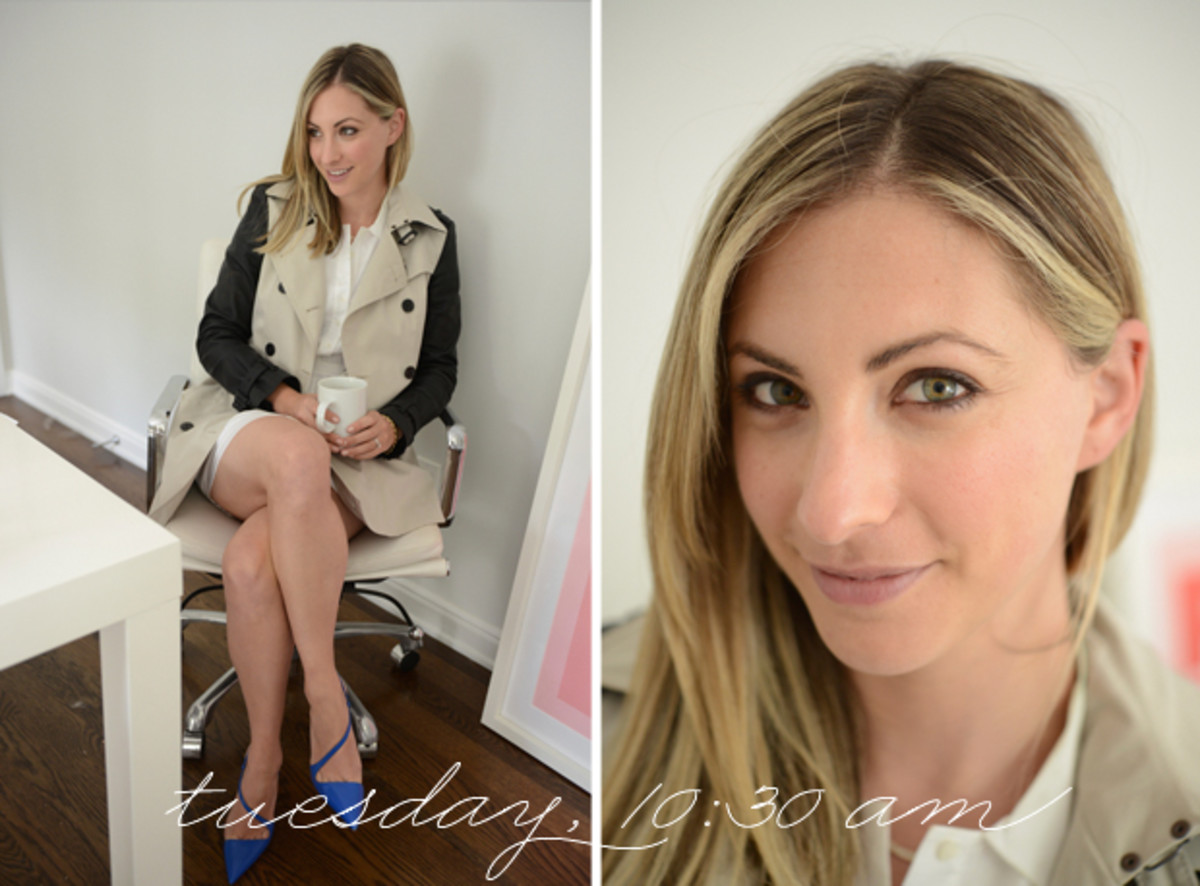 {Burberry Trench, Gap Dress, Christian Louboutin Heels}