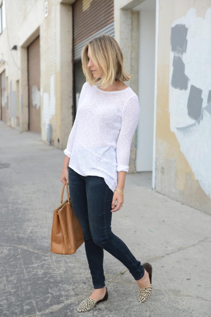 Club Monaco Sweater, AG Jeans c/o, Prada Bag, Jenni Kayne Flats