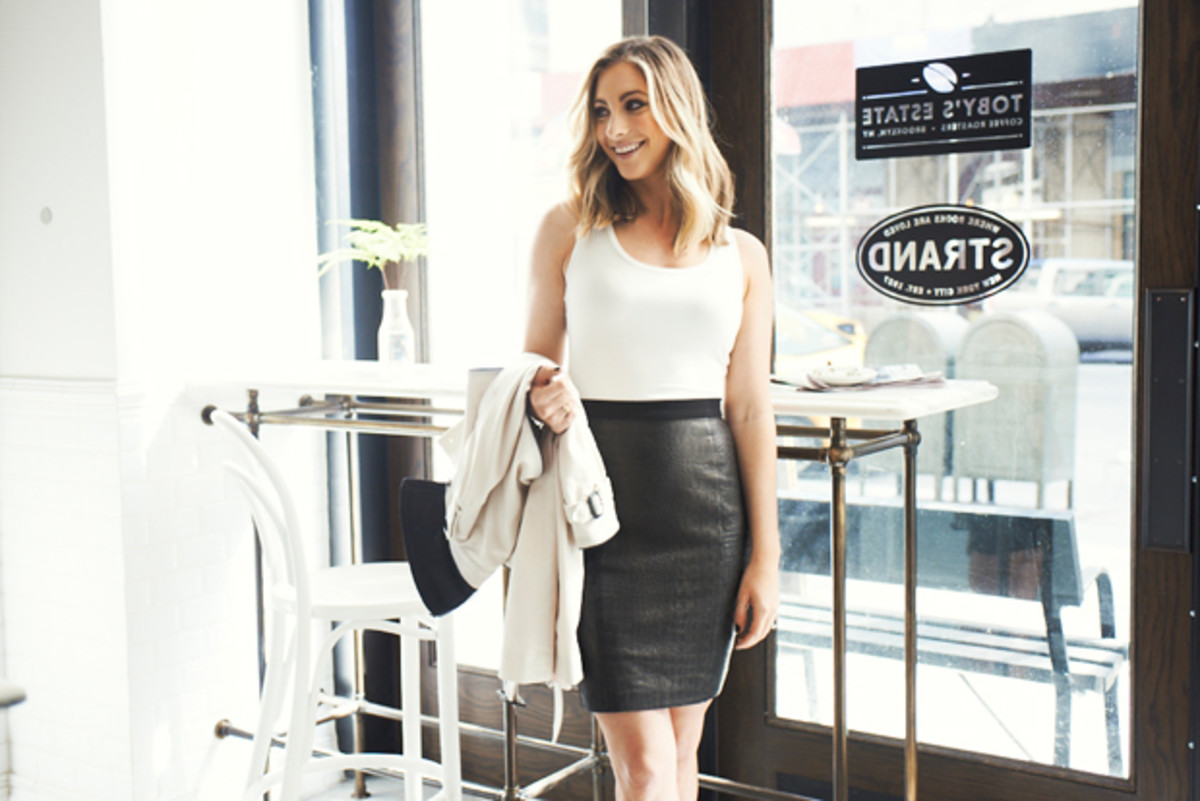 {Macee Leather Skirt}