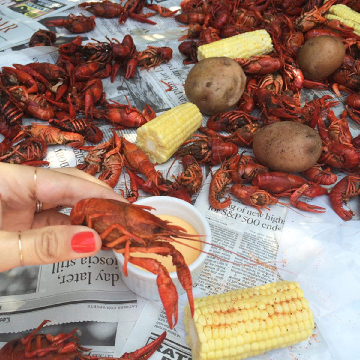 {Crawfish party shoot for my next book}