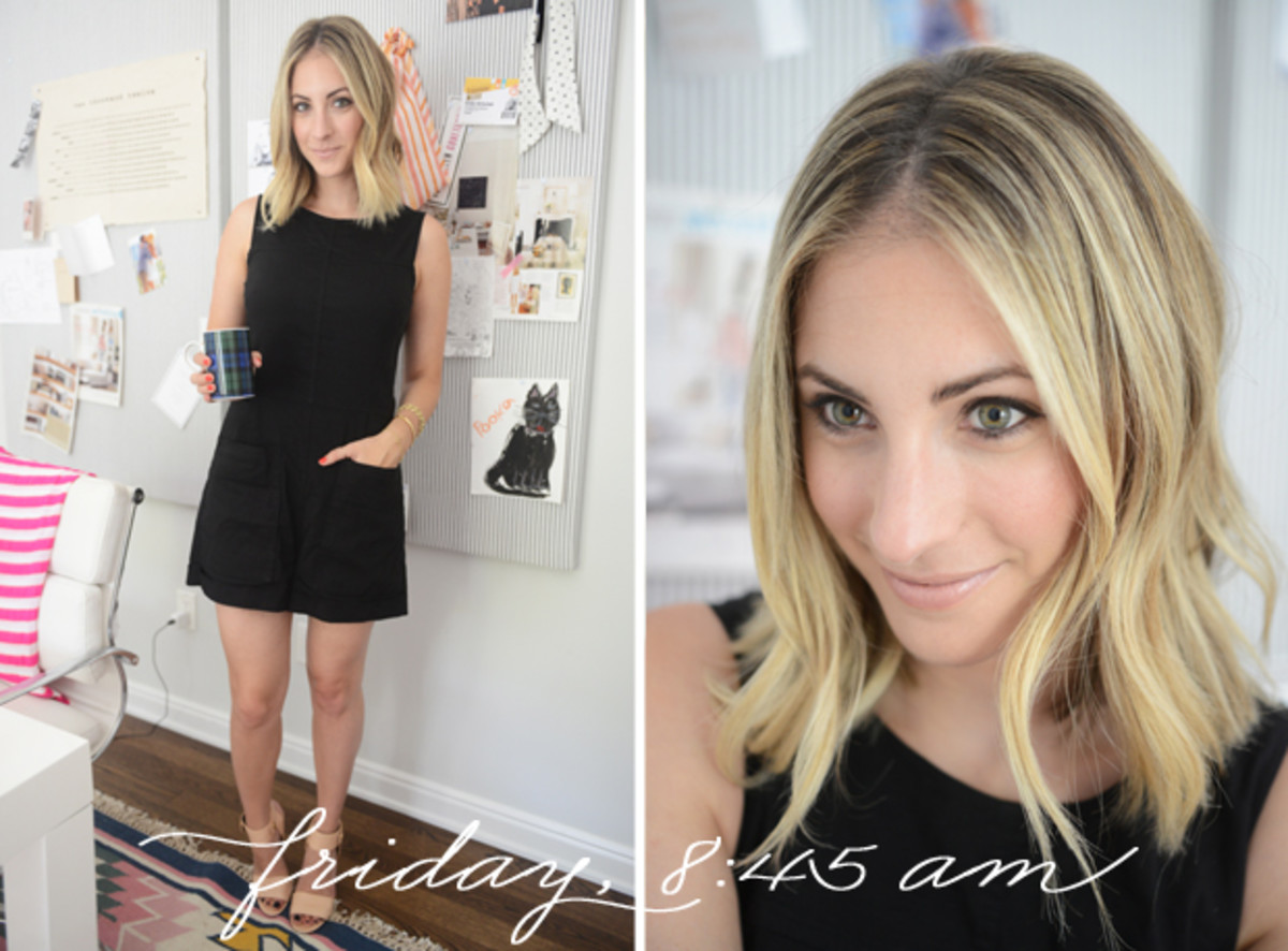 {Theory Romper, Alexander Wang Sandals, Tom Ford 'Nude Vanille' Lipstick}