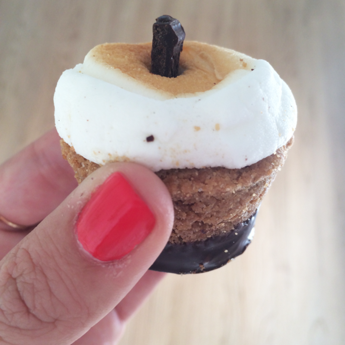 "{What a ""S'muffin"" looks like (s'more muffin)}"