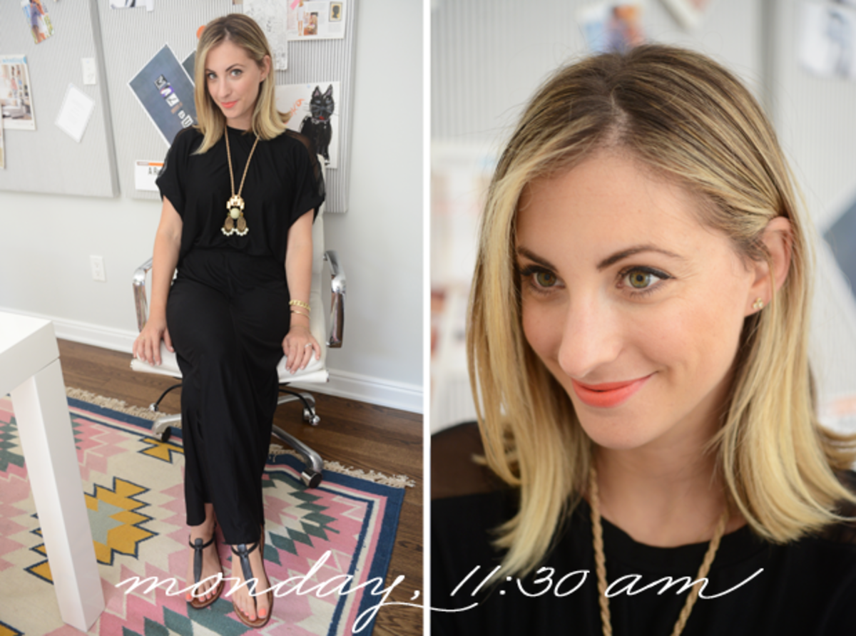 {Heather Maxi Dress, Sam Edelman Sandals, Anthropologie Necklace, Revlon 'Orange Flip' Lipstick}