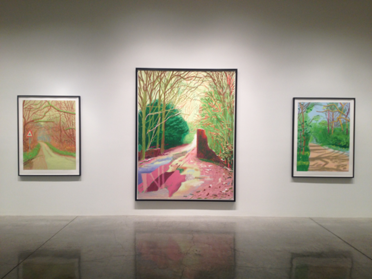 {David Hockney exhibit Arrival of Spring}