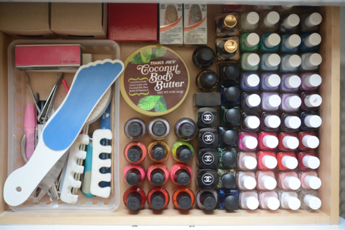 {The allure of a perfectly organized nail polish drawer}