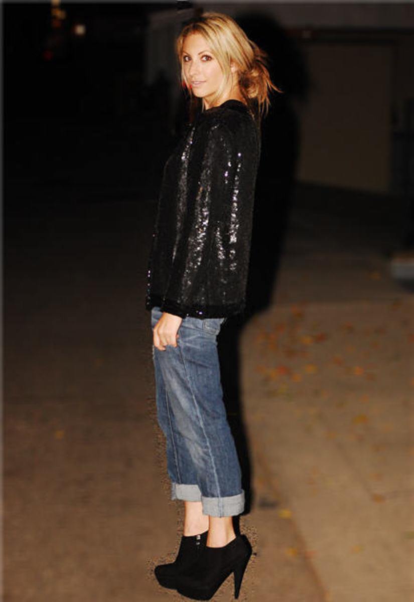 Vintage Blazer, Alexander Wang Top, Gap Jeans, F21 Ring, Steve Madden Booties
