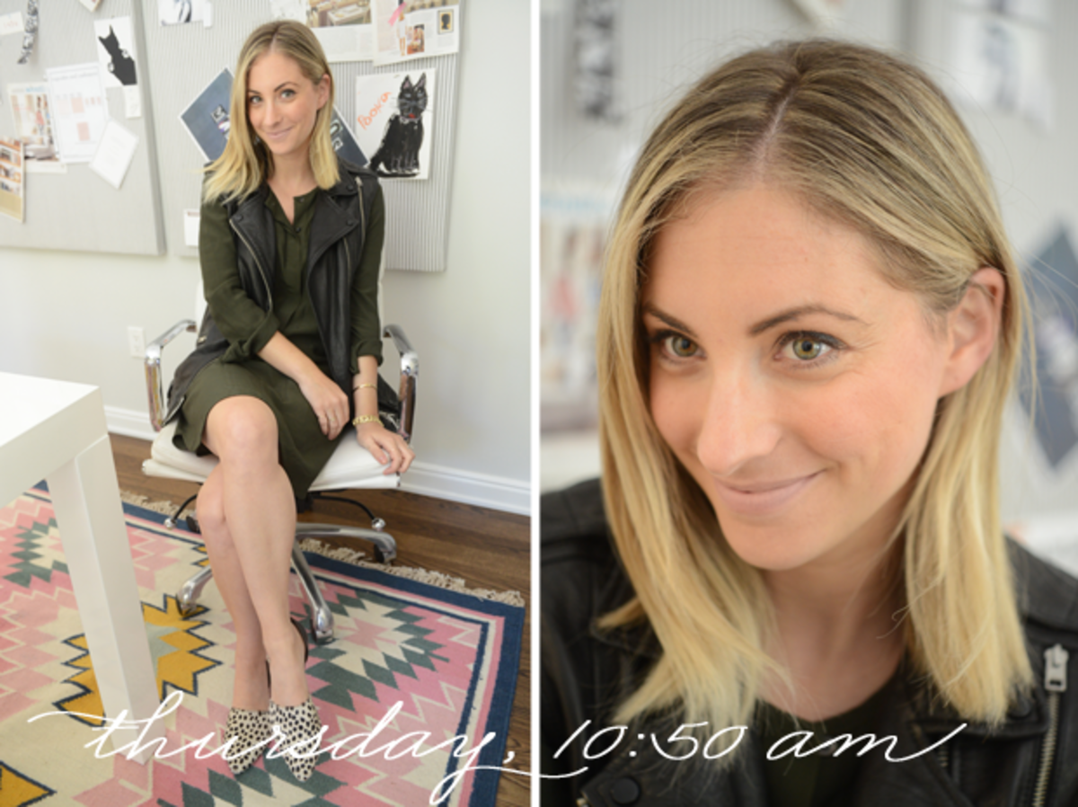 {Madewell Dress, All Saints Vest, Jenni Kayne Flats, Tom Ford 'Nude Vanille' Lipstick}