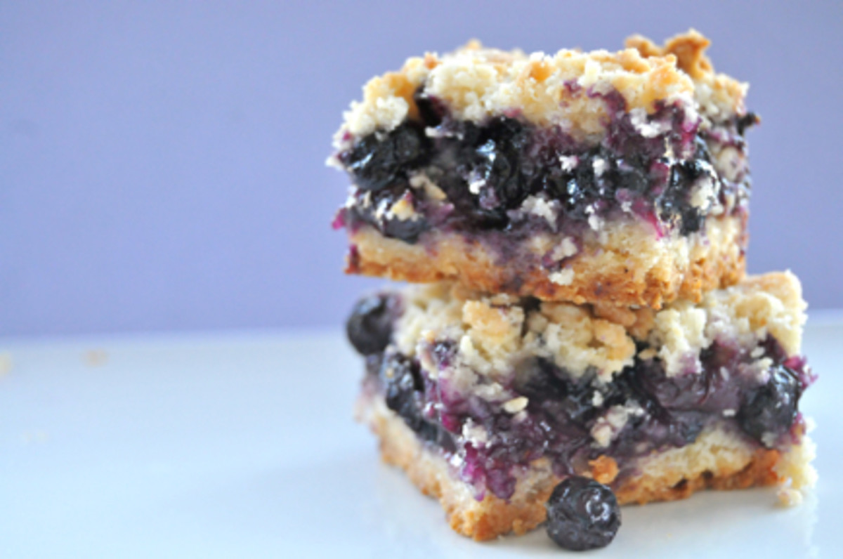{An August treat; Blueberry Crumb Bars}